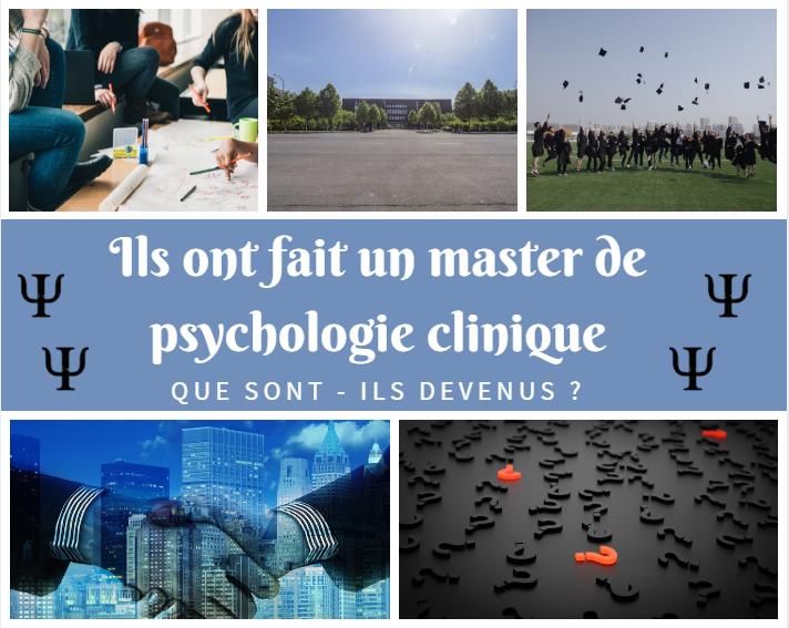 Ils ont fait un master de psychologie clinique : que sont-ils devenus ?