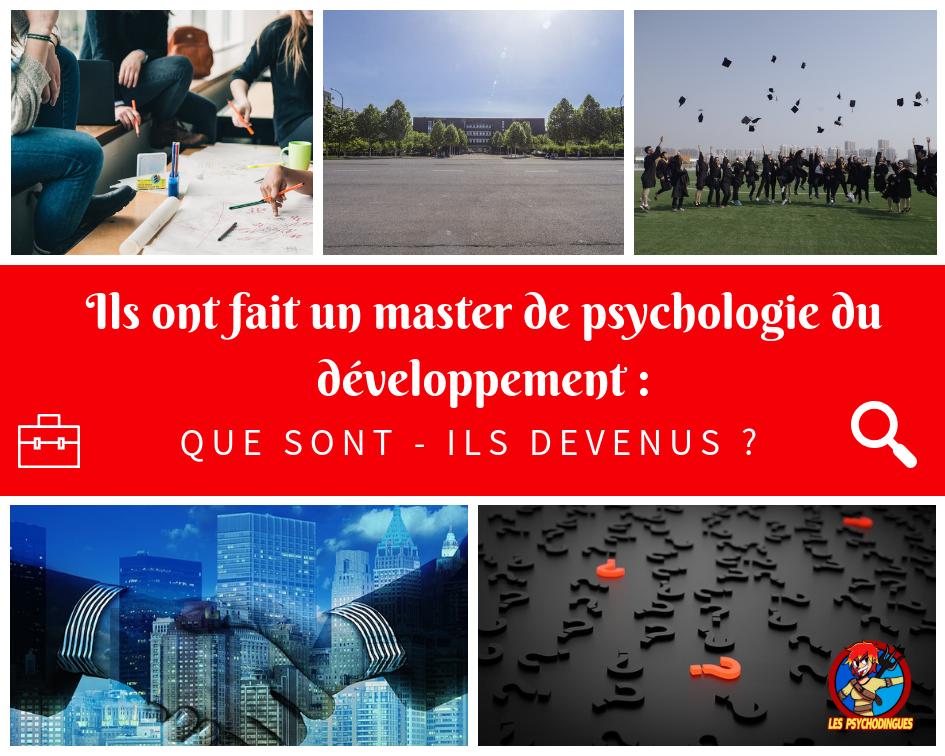 Ils ont fait un master de psychologie du développement : que sont-ils devenus ?