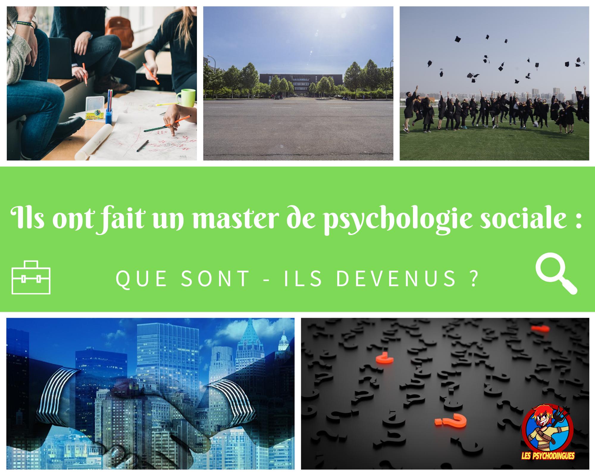 Ils ont fait un master de psychologie sociale : que sont-ils devenus ?